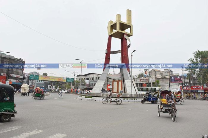 করোনা আতঙ্কে থমকে গেছে নারায়ণগঞ্জ